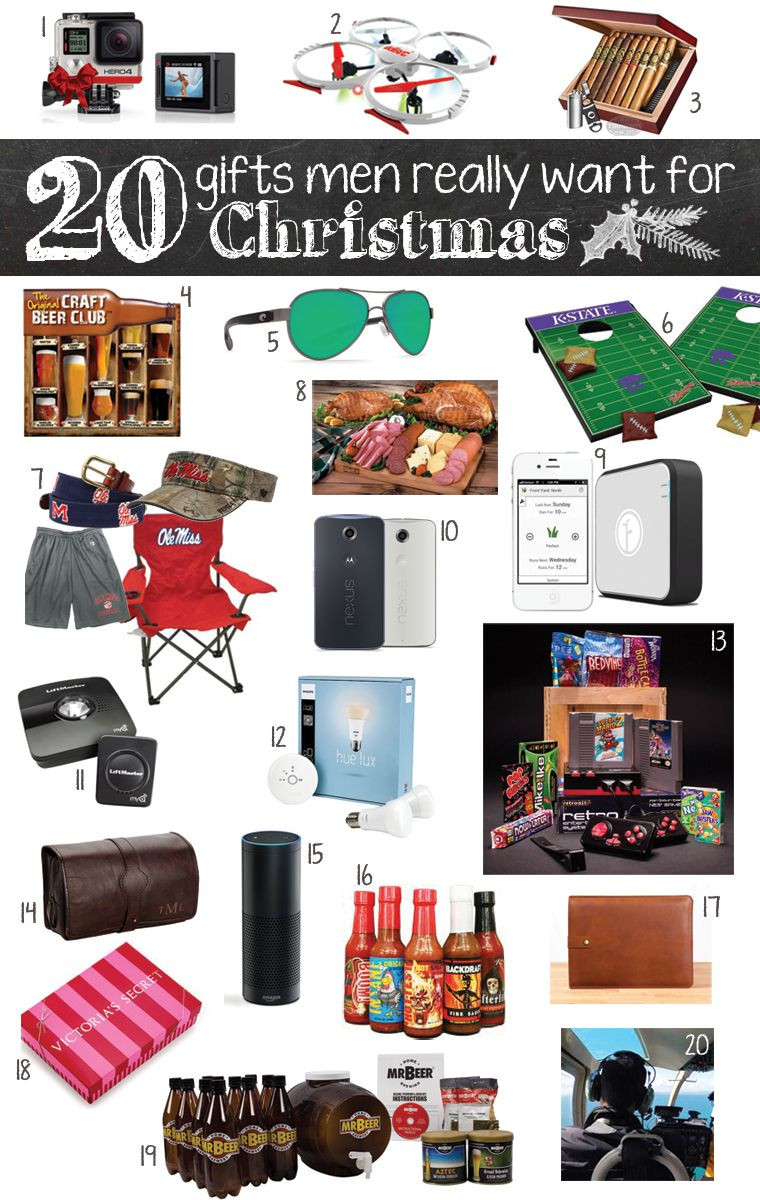 Best ideas about Guy Gift Ideas . Save or Pin 20 Gifts Men Really Want for Christmas Now.