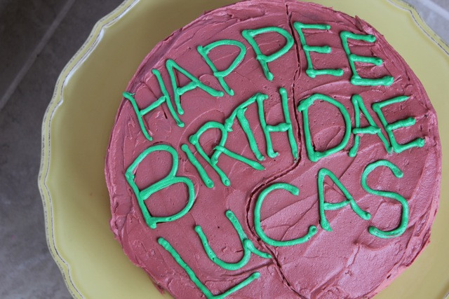 Best ideas about Hagrid Birthday Cake . Save or Pin The Sweetest Thing Lucky 7 Happy Birthday Lucas Now.