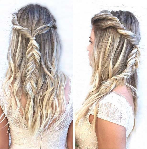 Best ideas about Hair Down Prom Hairstyles . Save or Pin 31 Half Up Half Down Prom Hairstyles Now.