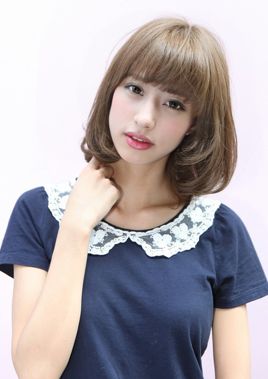 Best ideas about Hairstyle For Asian Girls . Save or Pin Flirty Fringed Bob – Feminine & Curvy Hairstyles Weekly Now.