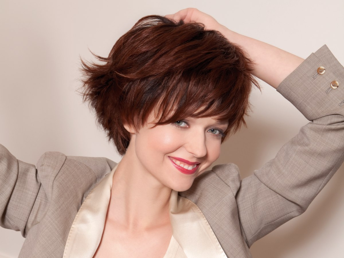 Best ideas about Hairstyle Short Hair . Save or Pin Dynamic and youthful short hairstyle with a steeply Now.