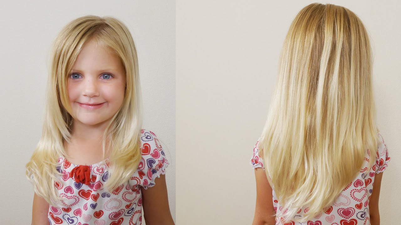 Best ideas about Hairstyles Cutting For Girls . Save or Pin How To Cut Girls Hair Long Layered Haircut for Little Now.