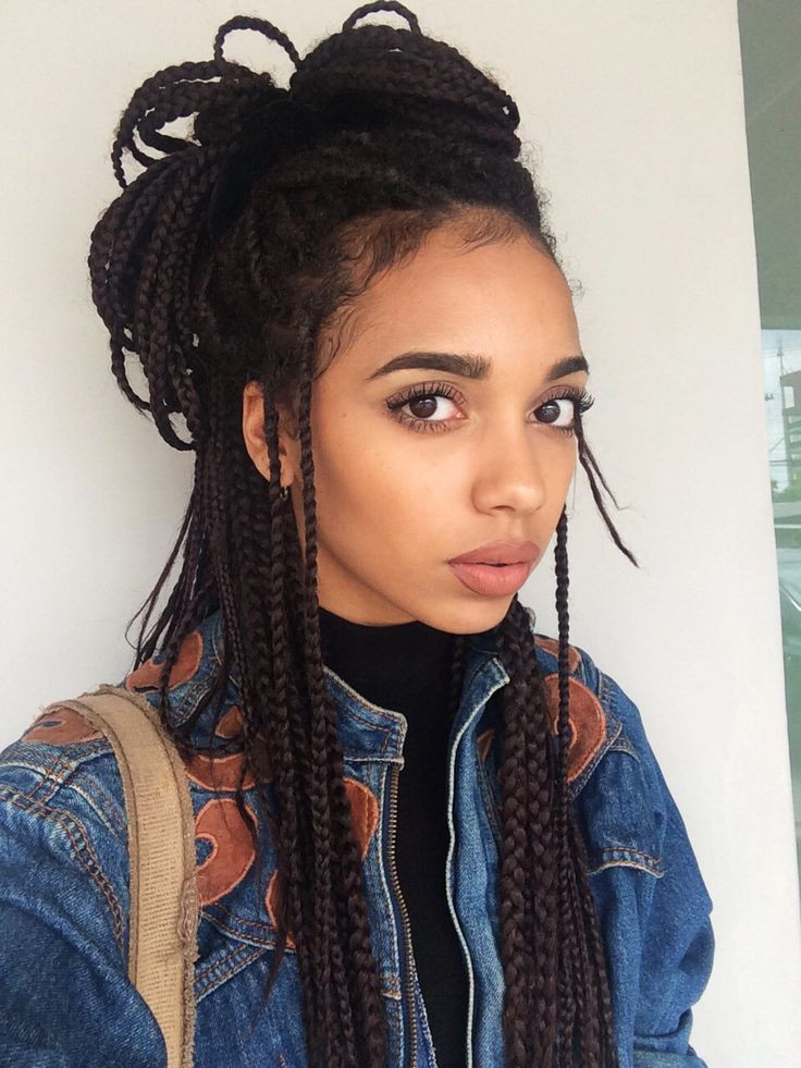 Best ideas about Hairstyles For Box Braids . Save or Pin 25 best ideas about Box braid styles on Pinterest Now.