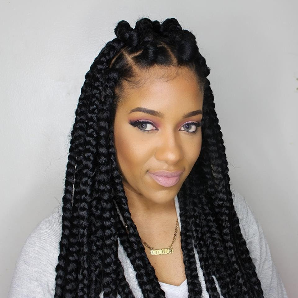 Best ideas about Hairstyles For Box Braids . Save or Pin Jumbo box braids – Amazing Long Term Protective Style Now.