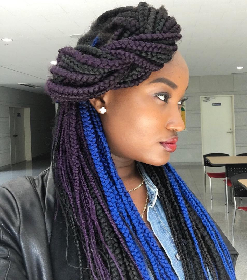 Best ideas about Hairstyles For Box Braids . Save or Pin Top 20 Box Braids Updo Hairstyles Now.