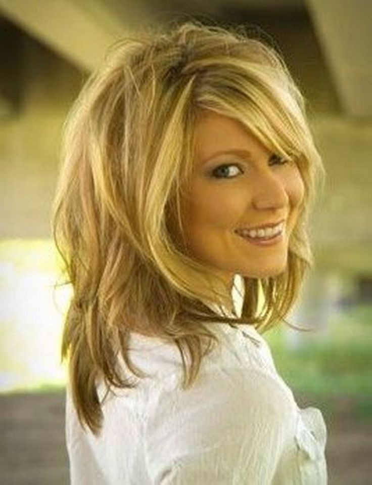 Best ideas about Hairstyles For Medium Length . Save or Pin Shaggy Shoulder Length Layered Hairstyles For Wavy Now.
