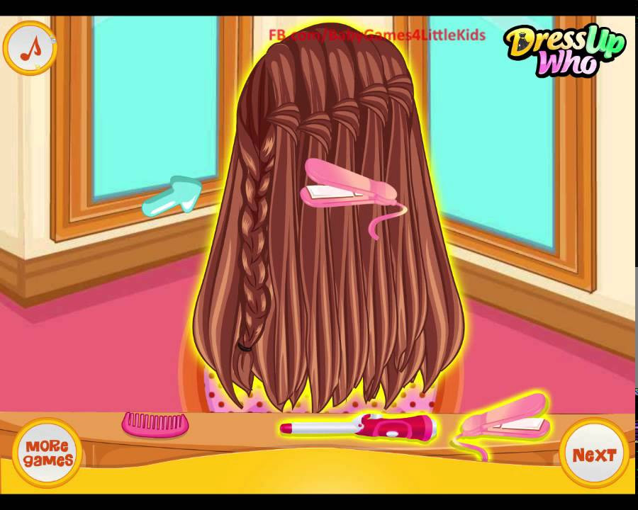 Best ideas about Hairstyles Game For Girls . Save or Pin Barbie Hairstyles game for girls School Braided Now.