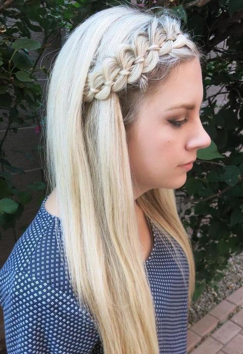 Best ideas about Hairstyles With Headbands For Long Hair . Save or Pin 40 Cute and fortable Braided Headband Hairstyles Now.