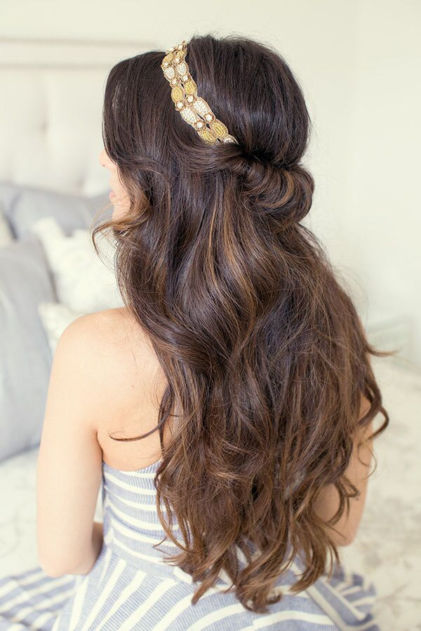 Best ideas about Hairstyles With Headbands For Long Hair . Save or Pin 25 best Headband Hairstyles ideas on Pinterest Now.