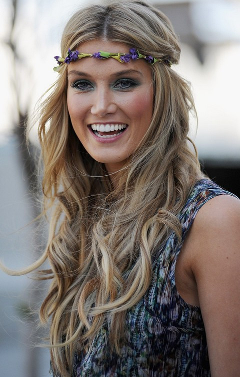Best ideas about Hairstyles With Headbands For Long Hair . Save or Pin Top 17 Delta Goodrem Hairstyles Pretty Designs Now.