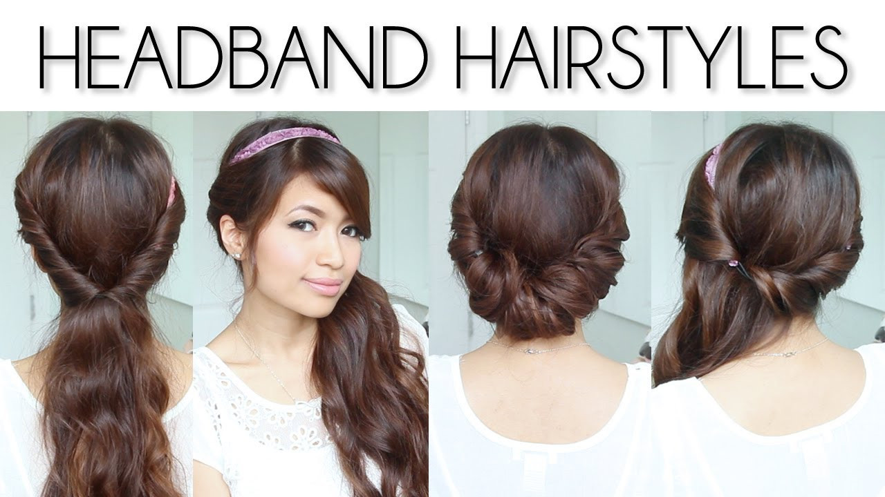 Best ideas about Hairstyles With Headbands For Long Hair . Save or Pin Easy Everyday Headband Hairstyles for Short and Long Hair Now.