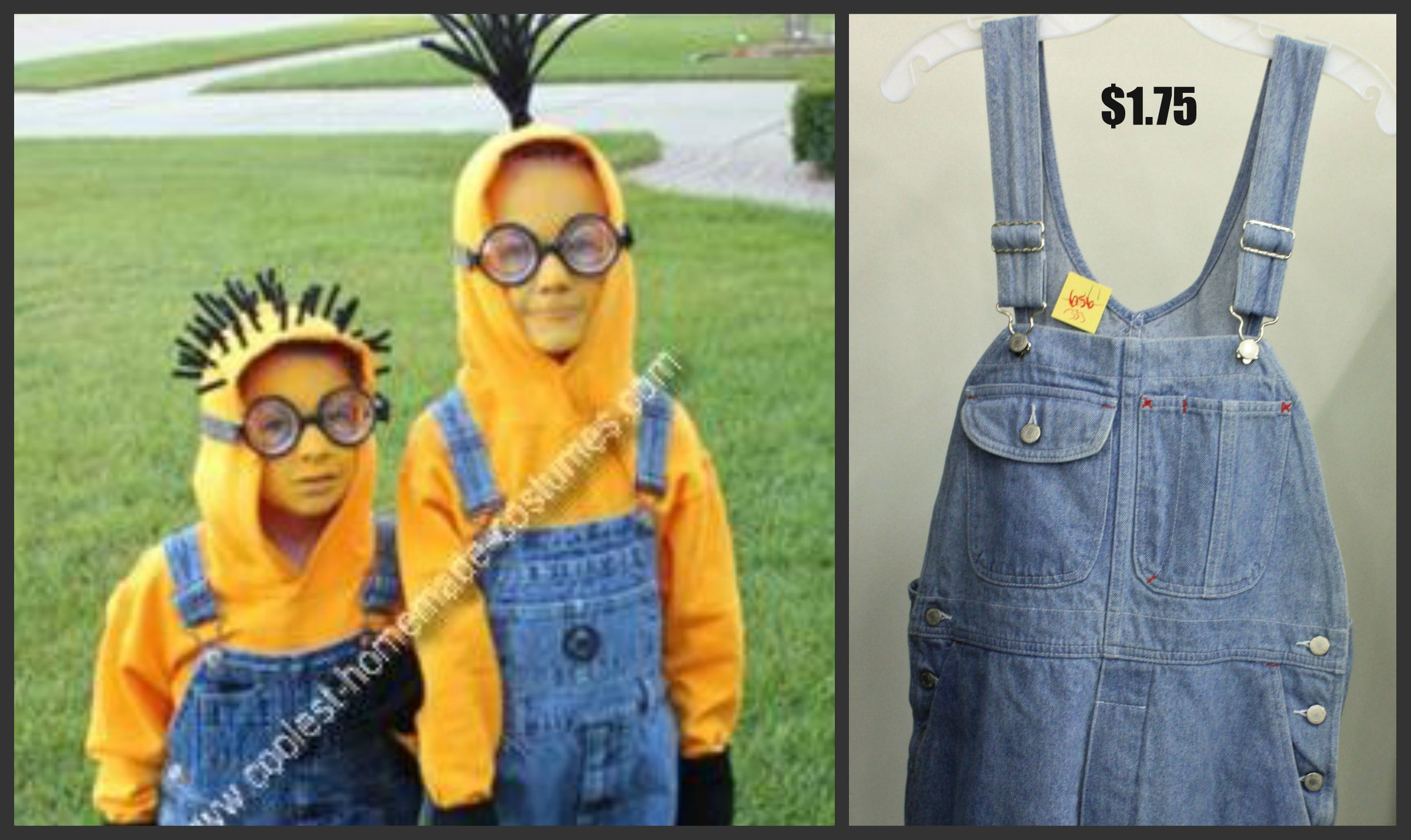 Best ideas about Halloween Costumes DIY . Save or Pin Despicable Me 2 Minions Halloween Costume Thrift Store Style Now.