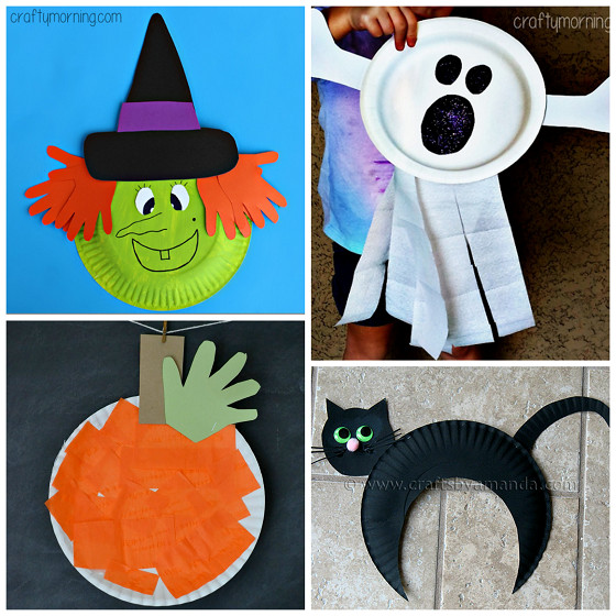 Best ideas about Halloween Craft Ideas For Kindergarteners . Save or Pin Paper Plate Halloween Crafts for Kids Crafty Morning Now.