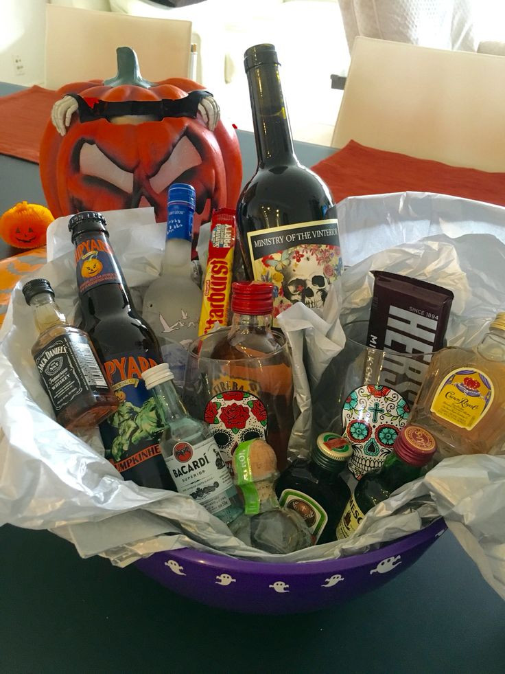 Best ideas about Halloween Gift Basket Ideas For Adults . Save or Pin Adult Halloween Gift Basket Prize Now.