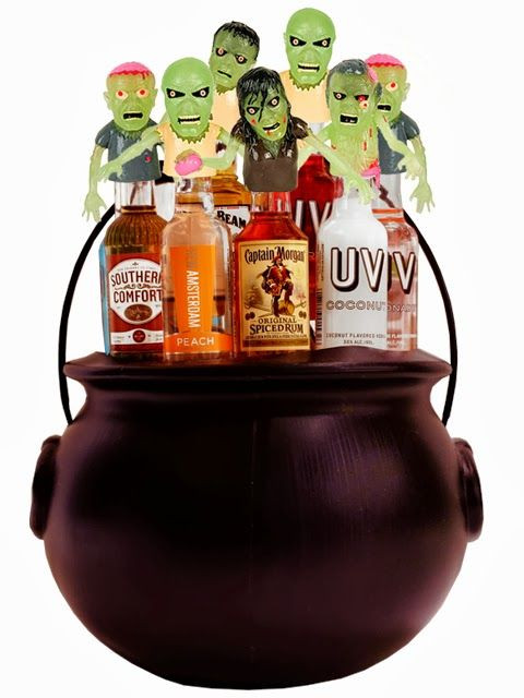 Best ideas about Halloween Gift Basket Ideas For Adults . Save or Pin Scary Zombie Mini Bar Cauldron Product Code S Now.