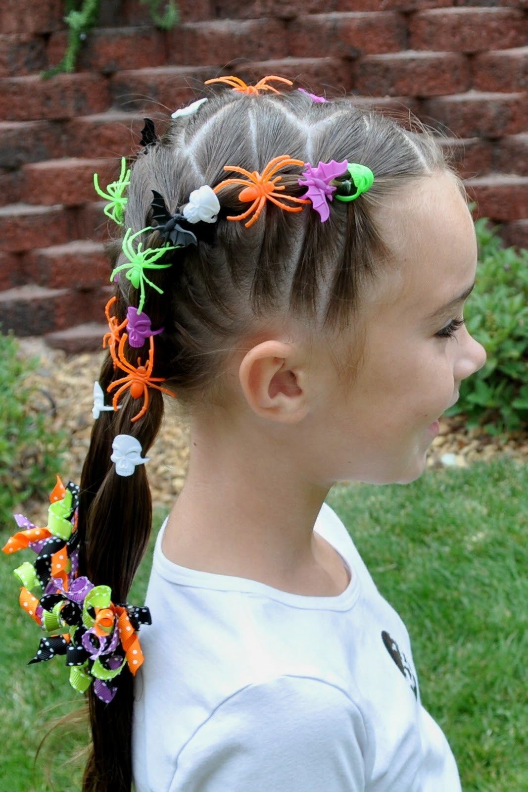 Best ideas about Halloween Hairstyles . Save or Pin Princess Piggies Halloween Hairdos Spider Rings Now.