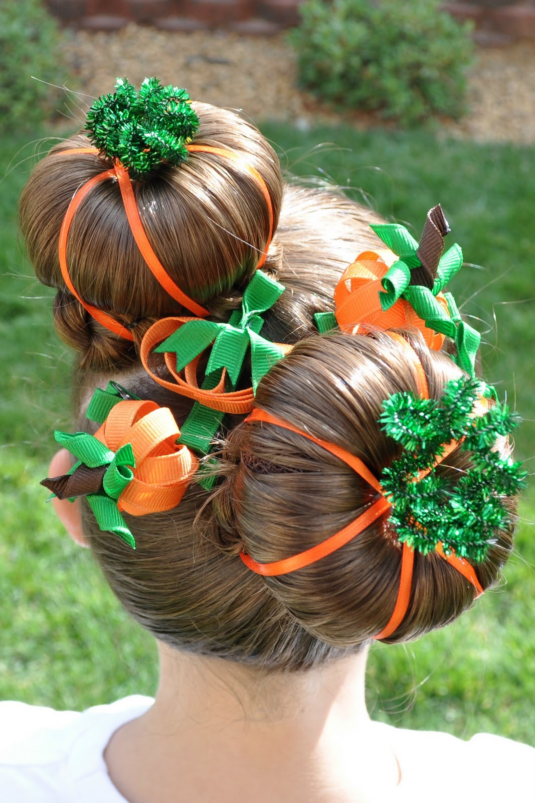 Best ideas about Halloween Hairstyles . Save or Pin Princess Piggies Halloween Hairdos Pumpkin Patch Now.