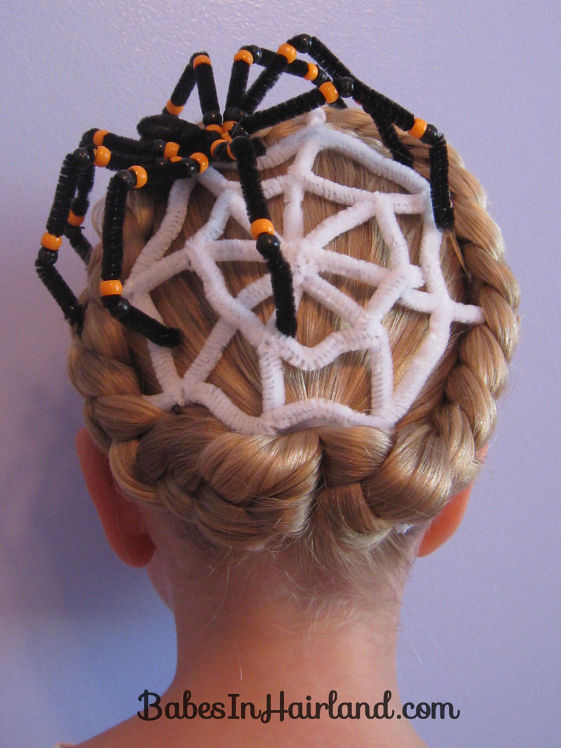 Best ideas about Halloween Hairstyles . Save or Pin Spiderweb Hairstyle for Halloween Now.