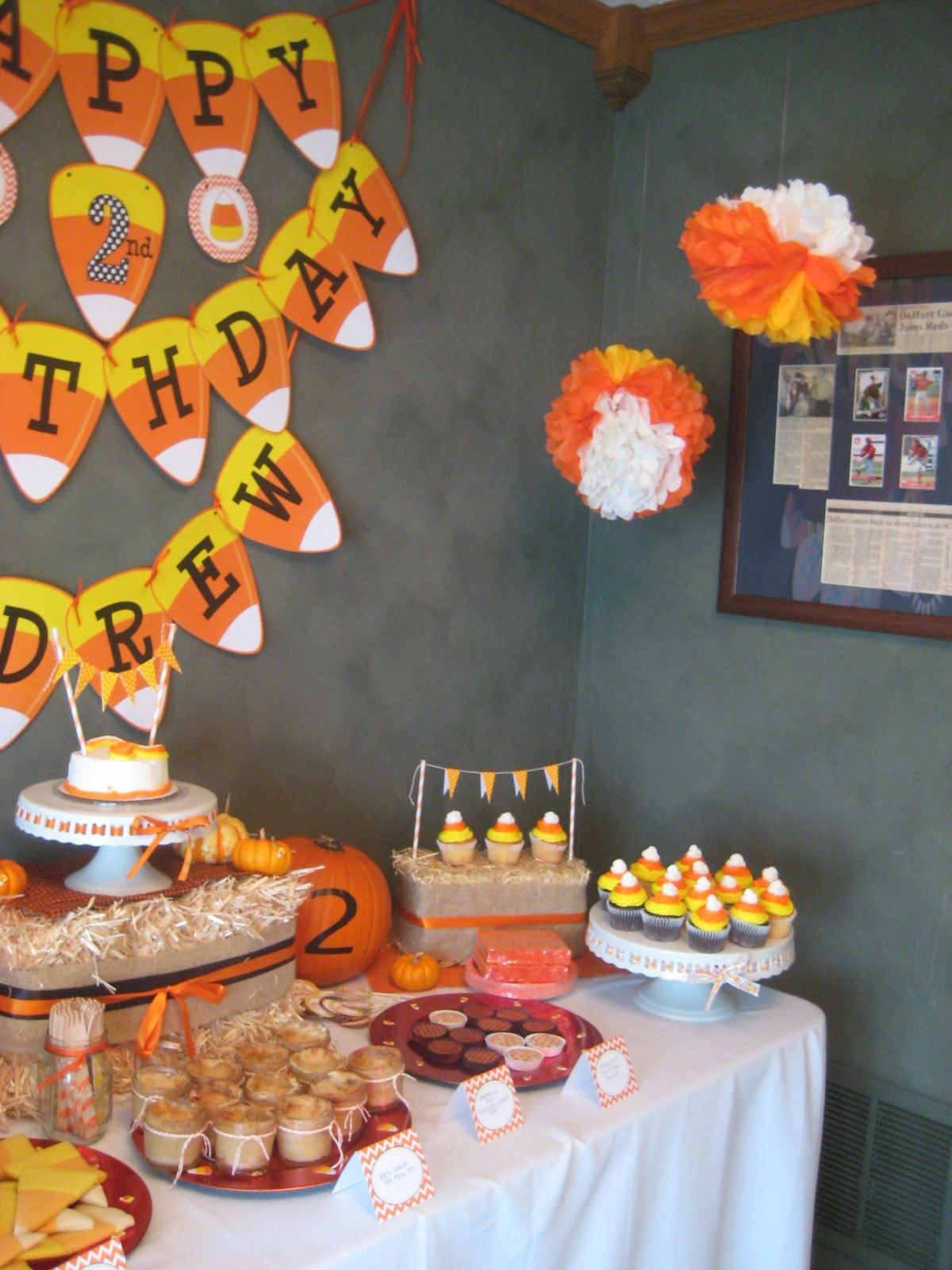 Best ideas about Halloween Theme Birthday Party . Save or Pin Candy Corn Birthday Party AH FALL Now.