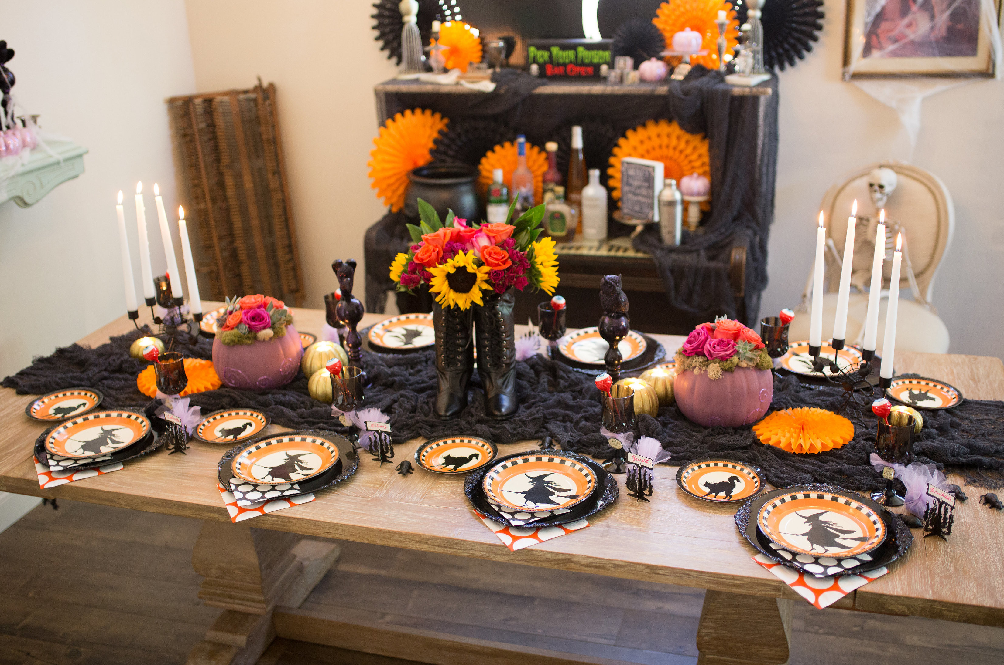 Best ideas about Halloween Theme Birthday Party . Save or Pin Witch Themed Halloween Party Now.