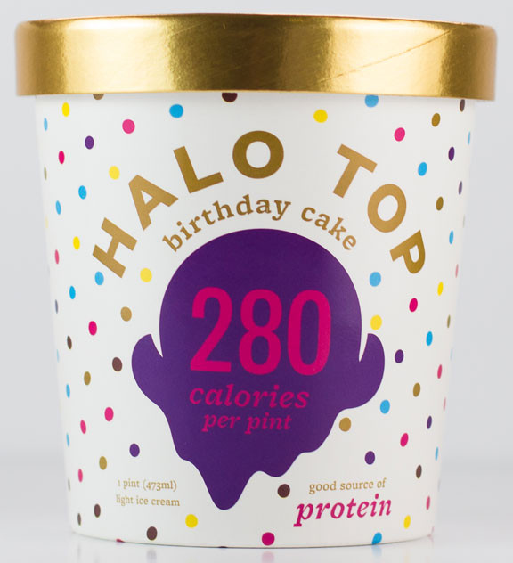 Best ideas about Halo Top Birthday Cake . Save or Pin Halo Top Ice Cream — The Dieline Branding & Packaging Design Now.