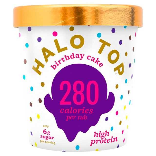 Best ideas about Halo Top Birthday Cake . Save or Pin Halo Top Birthday Cake Low Calorie Ice Cream 473ml from Ocado Now.