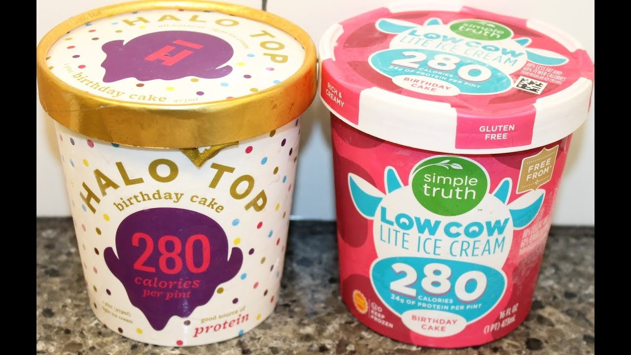 Best ideas about Halo Top Birthday Cake . Save or Pin Halo Top vs Simple Truth Birthday Cake Cream parison Now.