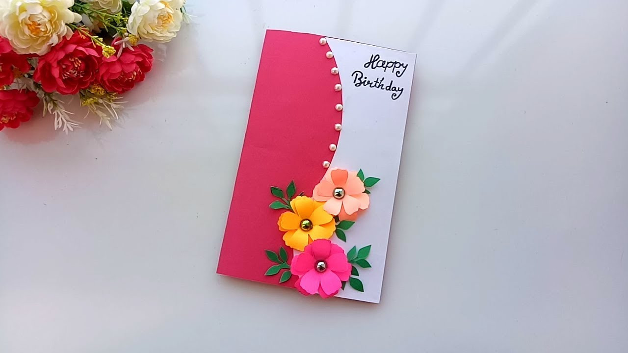 Best ideas about Handmade Birthday Card Ideas . Save or Pin Beautiful Handmade Birthday card idea DIY Greeting Pop Now.
