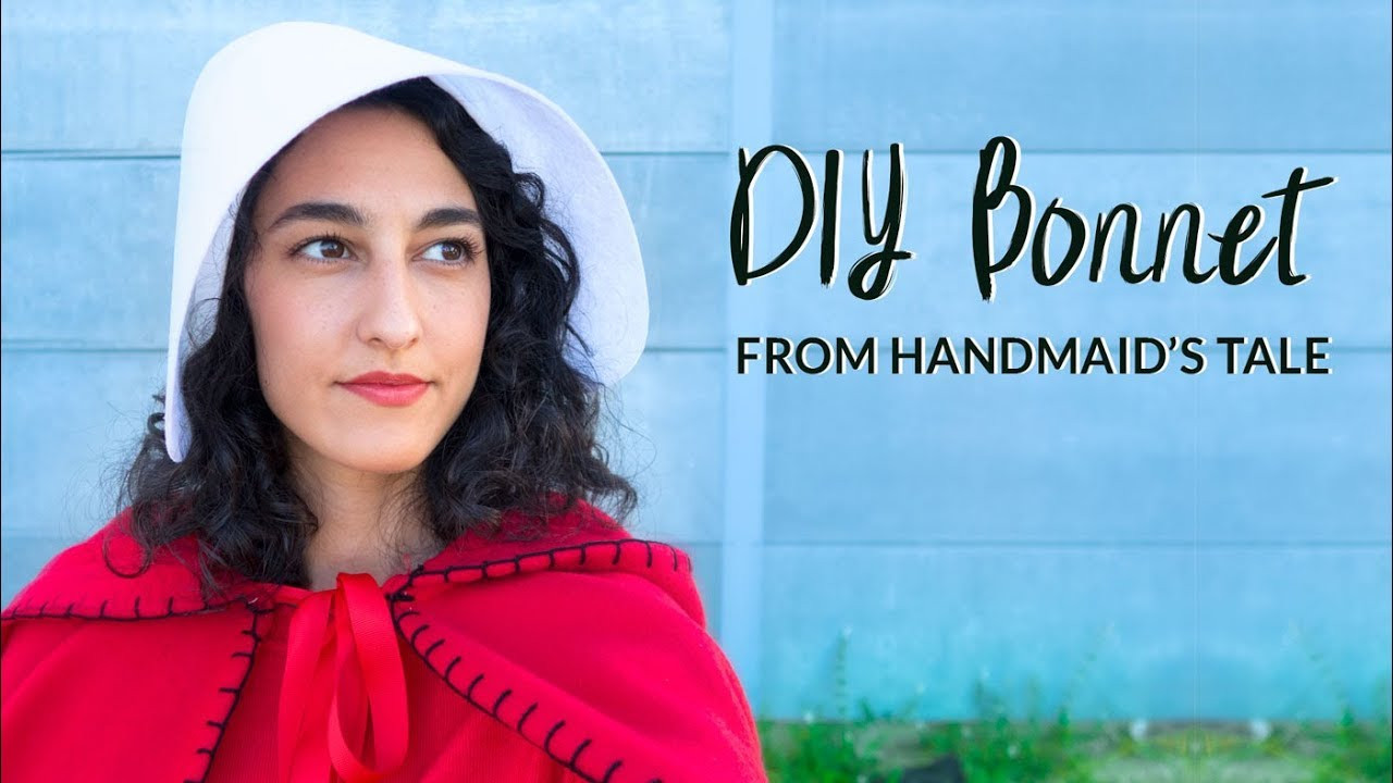"""Best ideas about Handmaid'S Tale Costume DIY . Save or Pin DIY Super Simple """"The Handmaid s Tale"""" Inspired Bonnet Now."""
