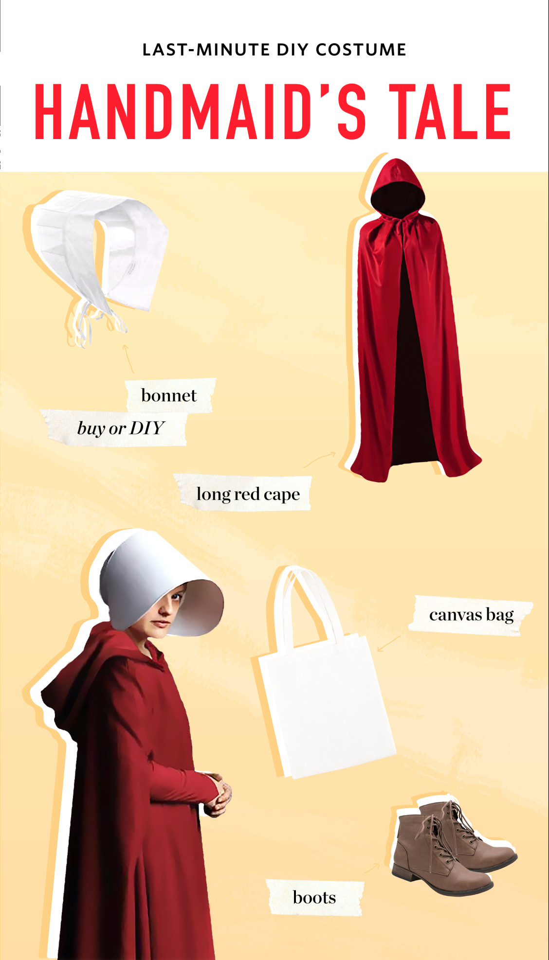 Best ideas about Handmaid'S Tale Costume DIY . Save or Pin Easy Halloween Costumes Inspired by Our Favorite Shows Now.