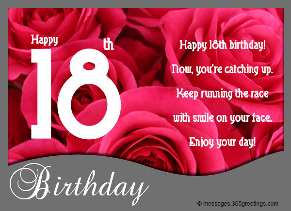 Best ideas about Happy 18th Birthday Wishes . Save or Pin 18th Birthday Wishes Messages and Greetings Now.