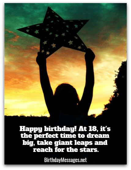 Best ideas about Happy 18th Birthday Wishes . Save or Pin 18th Birthday Wishes Birthday Messages for 18 Year Olds Now.