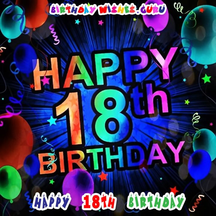 Best ideas about Happy 18th Birthday Wishes . Save or Pin Happy 18th Birthday Birthday Wishes for an 18 Year Old Now.