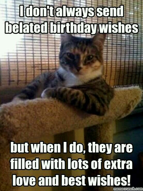 Best ideas about Happy Belated Birthday Funny . Save or Pin 20 Best Happy Belated Birthday Memes Now.
