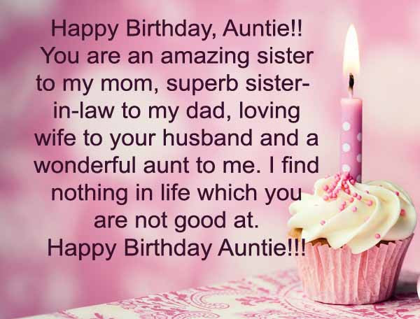 Best ideas about Happy Birthday Aunt Quotes . Save or Pin happy birthday my auntie wishes Now.