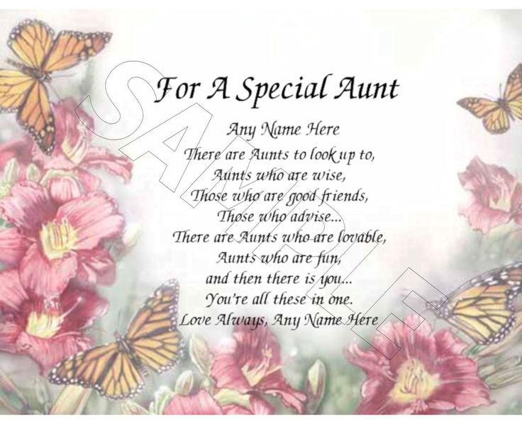 Best ideas about Happy Birthday Aunt Quotes . Save or Pin For a special aunt personalized print poem memory birthday Now.