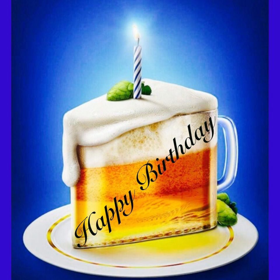 Best ideas about Happy Birthday Beer Cake . Save or Pin Happy birthday beer glass cake Now.