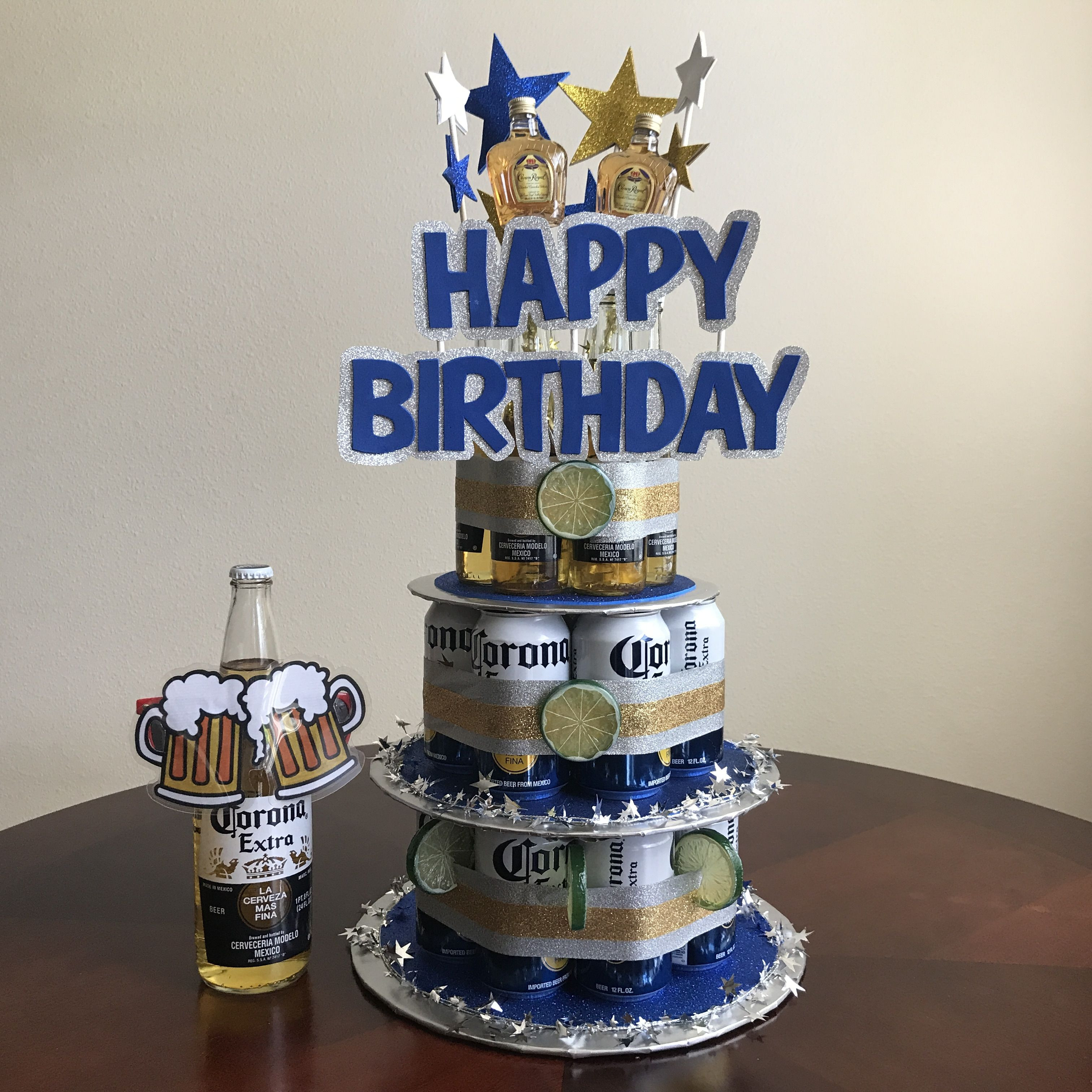 Best ideas about Happy Birthday Beer Cake . Save or Pin Handmade Beer Can Cake for the Man that loves his Corona s Now.