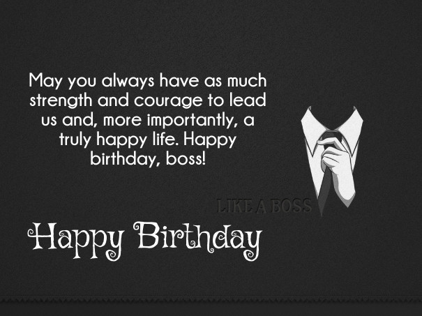 Best ideas about Happy Birthday Boss Quotes . Save or Pin 70 Best Boss Birthday Wishes & Quotes with Now.