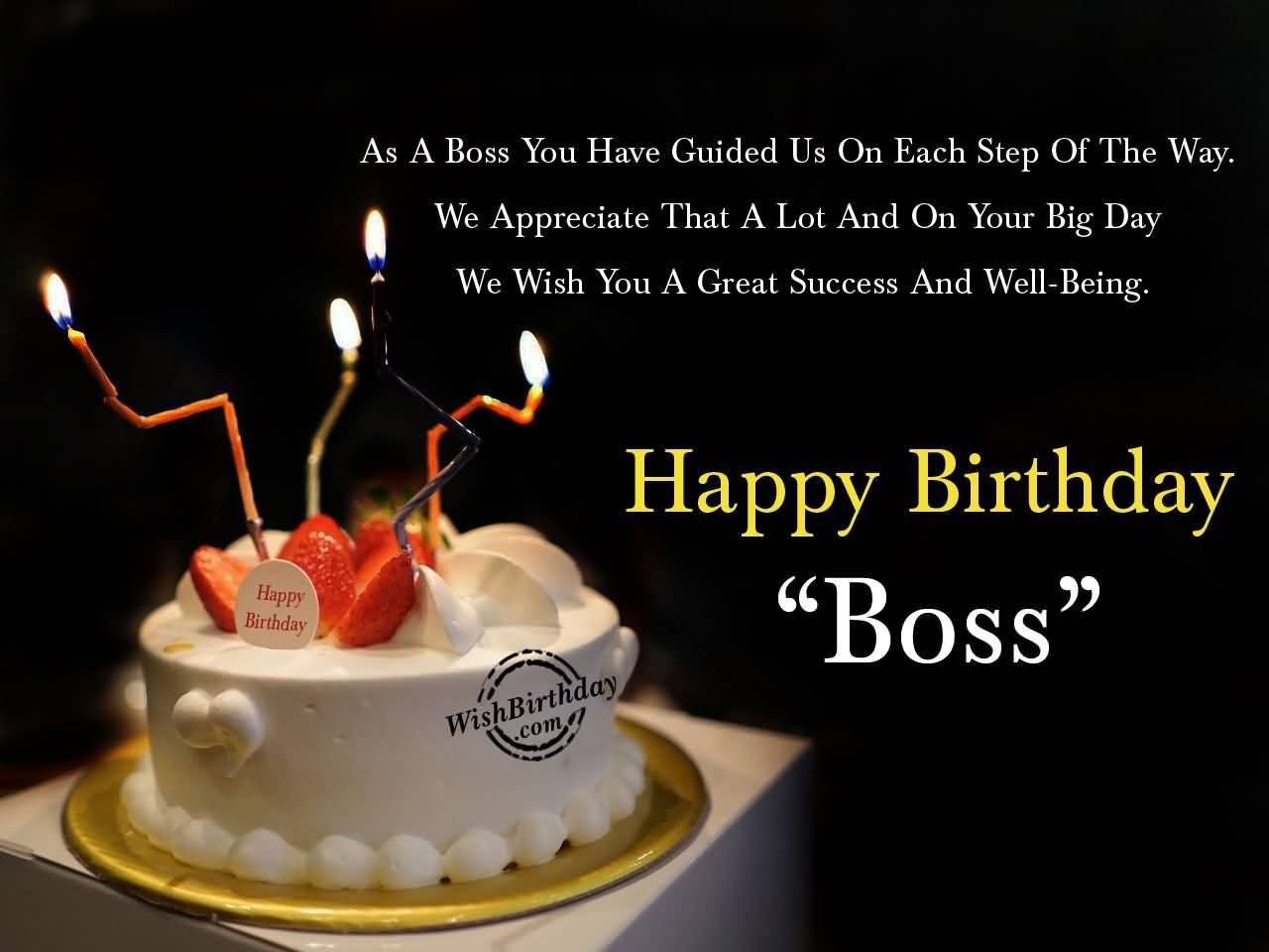 Best ideas about Happy Birthday Boss Quotes . Save or Pin 32 Wonderful Boss Birthday Wishes Sayings Picture Now.