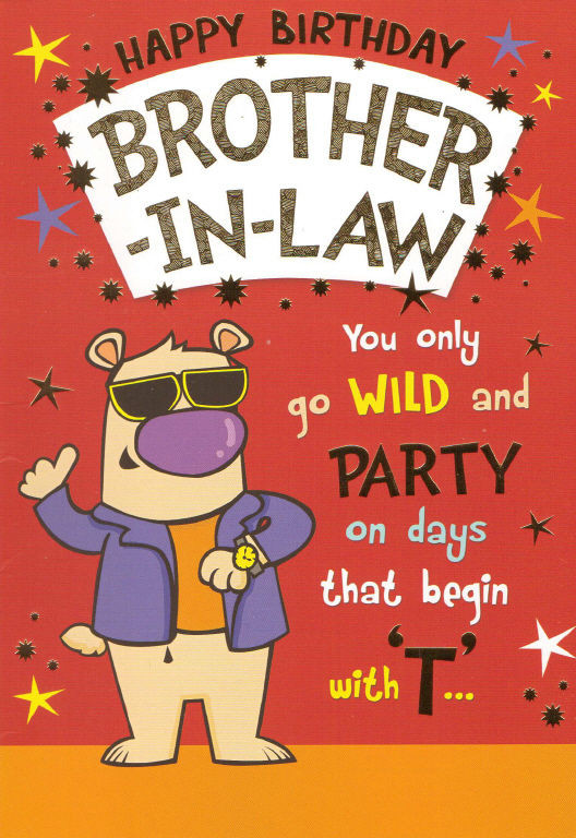Best ideas about Happy Birthday Brother In Law Funny . Save or Pin funny humorous BROTHER IN LAW happy birthday card 2 x Now.