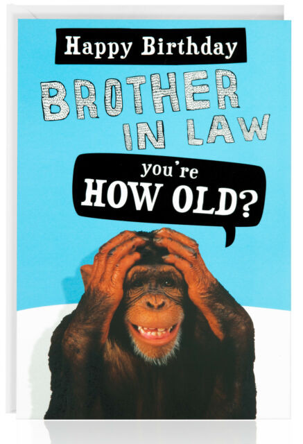 Best ideas about Happy Birthday Brother In Law Funny . Save or Pin Funny Old Man Birthday Cards collection on eBay Now.