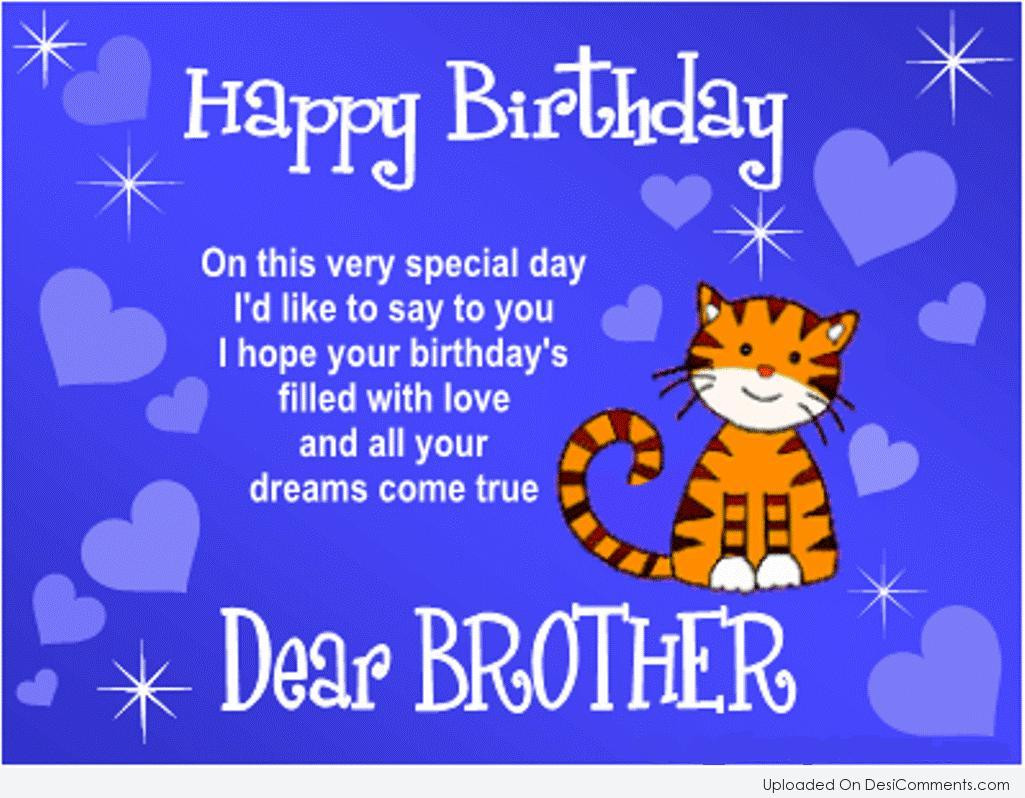 Best ideas about Happy Birthday Brother Quotes . Save or Pin Birthday Wishes for Brother Graphics for Now.