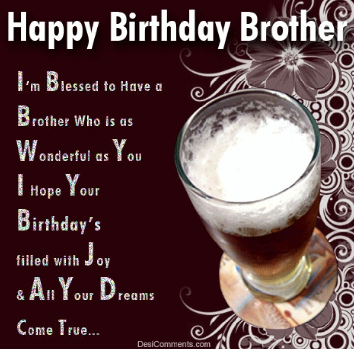 Best ideas about Happy Birthday Brother Quotes . Save or Pin happy birthday brother Happy birthday Now.