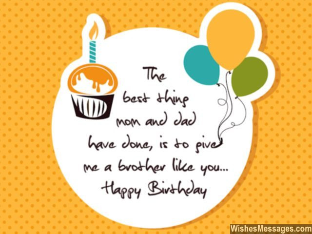 Best ideas about Happy Birthday Brother Quotes . Save or Pin Birthday Wishes for Brother Quotes and Messages Now.