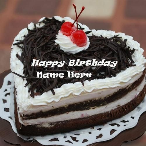 Best ideas about Happy Birthday Cake Pictures With Name . Save or Pin heart shaped chocolate birthday cake pictures with name Now.