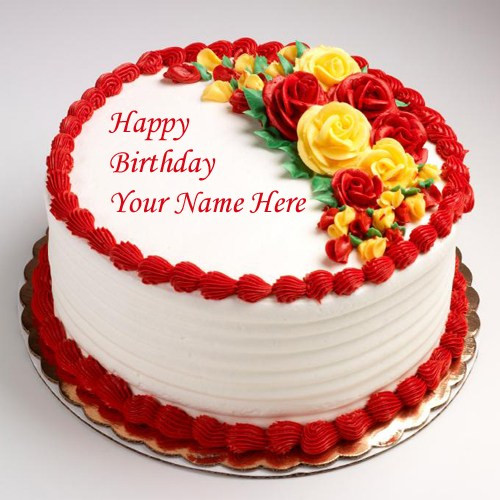 Best ideas about Happy Birthday Cake Pictures With Name . Save or Pin Happy Birthday Cake With Name Generator Now.