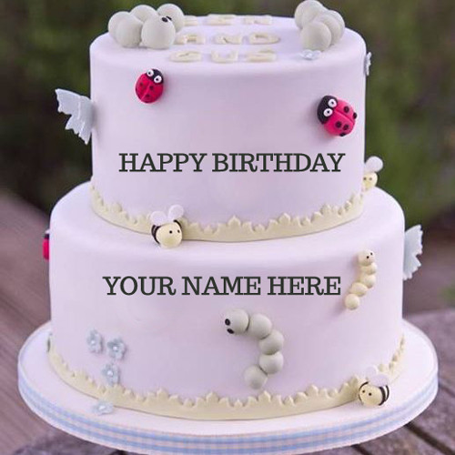 Best ideas about Happy Birthday Cake Pictures With Name . Save or Pin Birthday Cake Wallpaper With Name Edit on WallpaperGet Now.