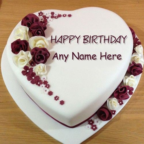 Best ideas about Happy Birthday Cake Pictures With Name . Save or Pin Create Rose Birthday Cake image with Name editor for your Now.