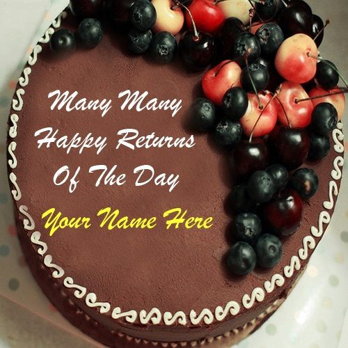 Best ideas about Happy Birthday Cake Pictures With Name . Save or Pin Happy birthday cake with name – Birthday cake images Now.